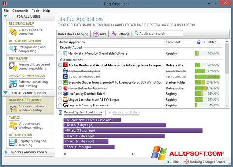 Στιγμιότυπο οθόνης Reg Organizer Windows XP