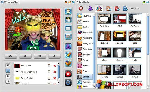 Στιγμιότυπο οθόνης WebcamMax Windows XP
