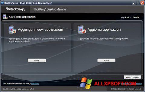 Στιγμιότυπο οθόνης BlackBerry Desktop Manager Windows XP