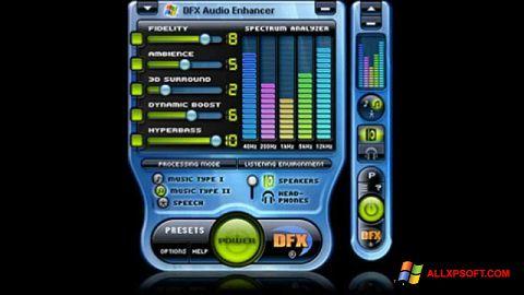 Στιγμιότυπο οθόνης DFX Audio Enhancer Windows XP