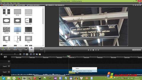 Στιγμιότυπο οθόνης Camtasia Studio Windows XP