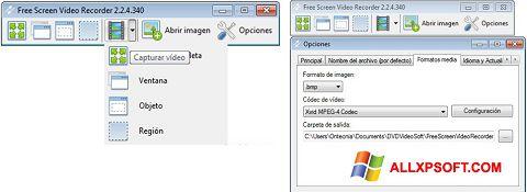 Στιγμιότυπο οθόνης Free Screen Video Recorder Windows XP
