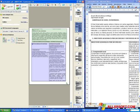 Στιγμιότυπο οθόνης ABBYY PDF Transformer Windows XP