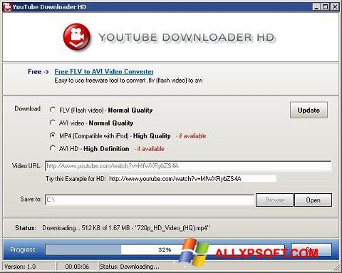 Στιγμιότυπο οθόνης Youtube Downloader HD Windows XP