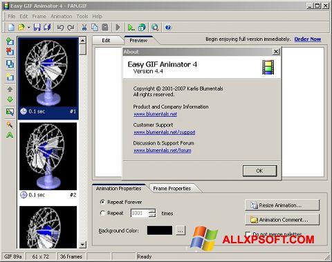 Στιγμιότυπο οθόνης Easy GIF Animator Windows XP